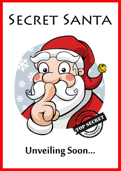 Secret Santa Poster Poster - secret santa